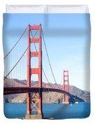 San Francisco's Golden Gate Bridge Duvet Cover
