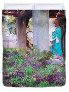San Gabriel Mission California - Virgin Mary Duvet Cover