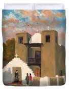 San Geronimo De Taos Spanish Mission Duvet Cover