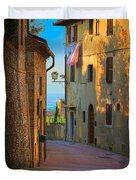 San Gimignano Alley Duvet Cover