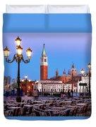 San Giorgio Maggiore From Piazza San Marco - Venice Duvet Cover