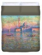 San Giorgio Maggiore Venice Duvet Cover by Claude Monet