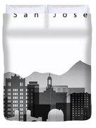 San Jose Graphic Skyline Duvet Cover