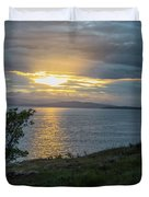 San Juan Island Sunset Duvet Cover