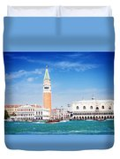 San Marco Square Waterfront Duvet Cover
