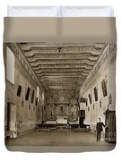 San Miguel Mission California Circa 1915 Duvet Cover