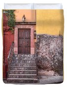 San Miguel Steps And Door Duvet Cover