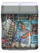 San Pedro Bike Repair Duvet Cover