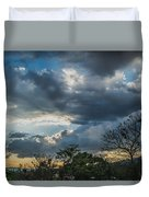 San Salvador Sunset Duvet Cover