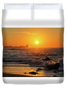 Sancti Petri Castle At Sunset San Fernando Cadiz Spain  Duvet Cover