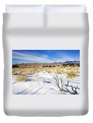 Sand And Snow Duvet Cover by Mike  Dawson