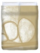 Sand And Stone 1- Contemporary Abstract Art By Linda Woods Duvet Cover