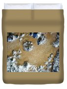 Sand Dune With Snow Duvet Cover