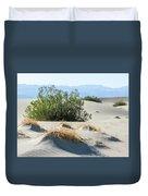 Sand Dunes, Plants, Mountains Duvet Cover