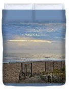 Sand Fence And Beach Duvet Cover