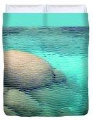 Sand Harbor Ripples Duvet Cover