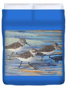 Sand Pipers Duvet Cover