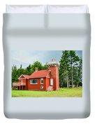 Sand Point Lighthouse - Baraga Duvet Cover
