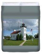 Sand Point Lighthouse Duvet Cover
