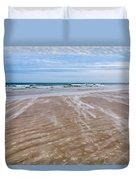 Sand Swirls On The Beach Duvet Cover