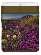 Sand Verbena Coyote Mountains Anza Borrego State Park California Duvet Cover