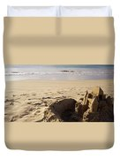 Sandcastle On The Beach, Hapuna Beach Duvet Cover