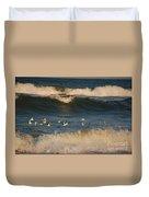 Sanderlings In Flight Duvet Cover