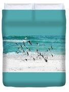 Sandestin Seagulls B Duvet Cover