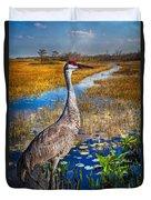 Sandhill Crane In The Glades Duvet Cover