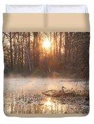 Sandhill Crane On Nest Duvet Cover