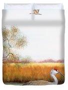 Sandhill Cranes-jp3160 Duvet Cover