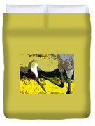 Sandhill Scratching Duvet Cover