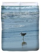 Sandpiper On The Beach Duvet Cover