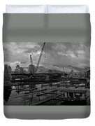 Sandpoint Marina And Byway Duvet Cover