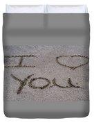Sandscript - I Love You Duvet Cover