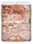 Sandstone Colors In Wash 3 - Valley Of Fire Duvet Cover