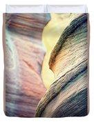 Sandstone Curve. Duvet Cover