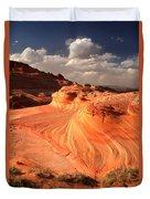 Sandstone Dragon Portrait View Duvet Cover
