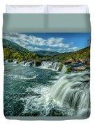 Sandstone Falls New River  Duvet Cover
