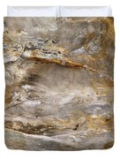Sandstone Formation Number 2 At Starved Rock State Duvet Cover