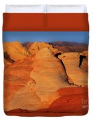 Sandstone Formations In Valley Of Fire State Park Nevada Duvet Cover by Dave Welling