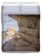 Sandstone Layers Duvet Cover