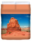 Sandstone Monolith, Courthouse Towers, Arches National Park Duvet Cover