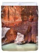 Sandstone Toes In The Virgin River Duvet Cover