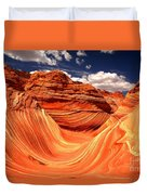 Sandstone Waves And Clouds Duvet Cover