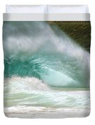 Sandy Beach Shorebreak Duvet Cover