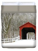 Sandy Creek Covered Bridge Duvet Cover