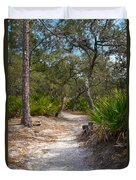 Sandy Path In Hunting Island South Carolina Duvet Cover