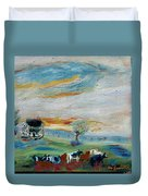 Sandy Ridge Cattle Duvet Cover