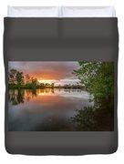 Sandy River Sunset Duvet Cover
